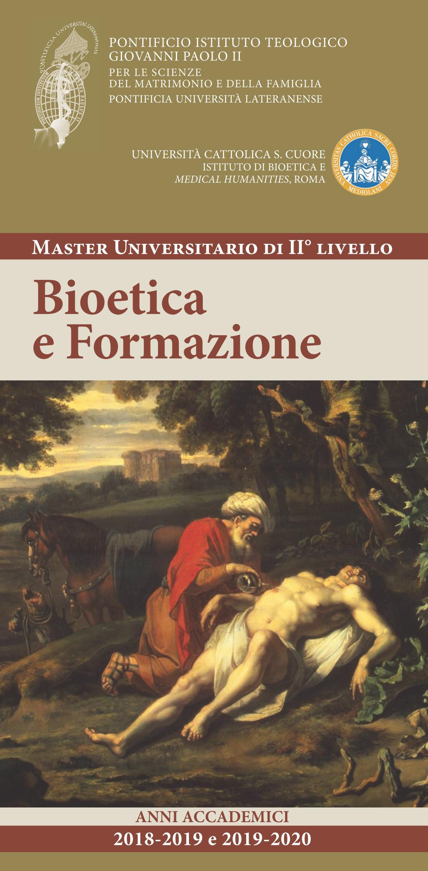 Calendario Lezioni Unicatt.Master In Bioetica E Formazione Pontificio Istituto