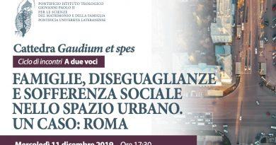 """Famiglie, diseguaglianze e sofferenza sociale nello spazio urbano. Un caso: Roma. Il secondo appuntamento del ciclo di incontri""""A due voci"""""""