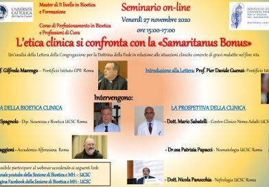 L'etica clinica si confronta con la Samaritanus Bonus