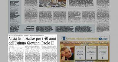 Al via le iniziative per i 40 anni dell'Istituto Giovanni Paolo II
