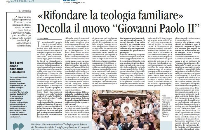"""«Rifondare la teologia familiare». Decolla il nuovo """"Giovanni Paolo II"""""""